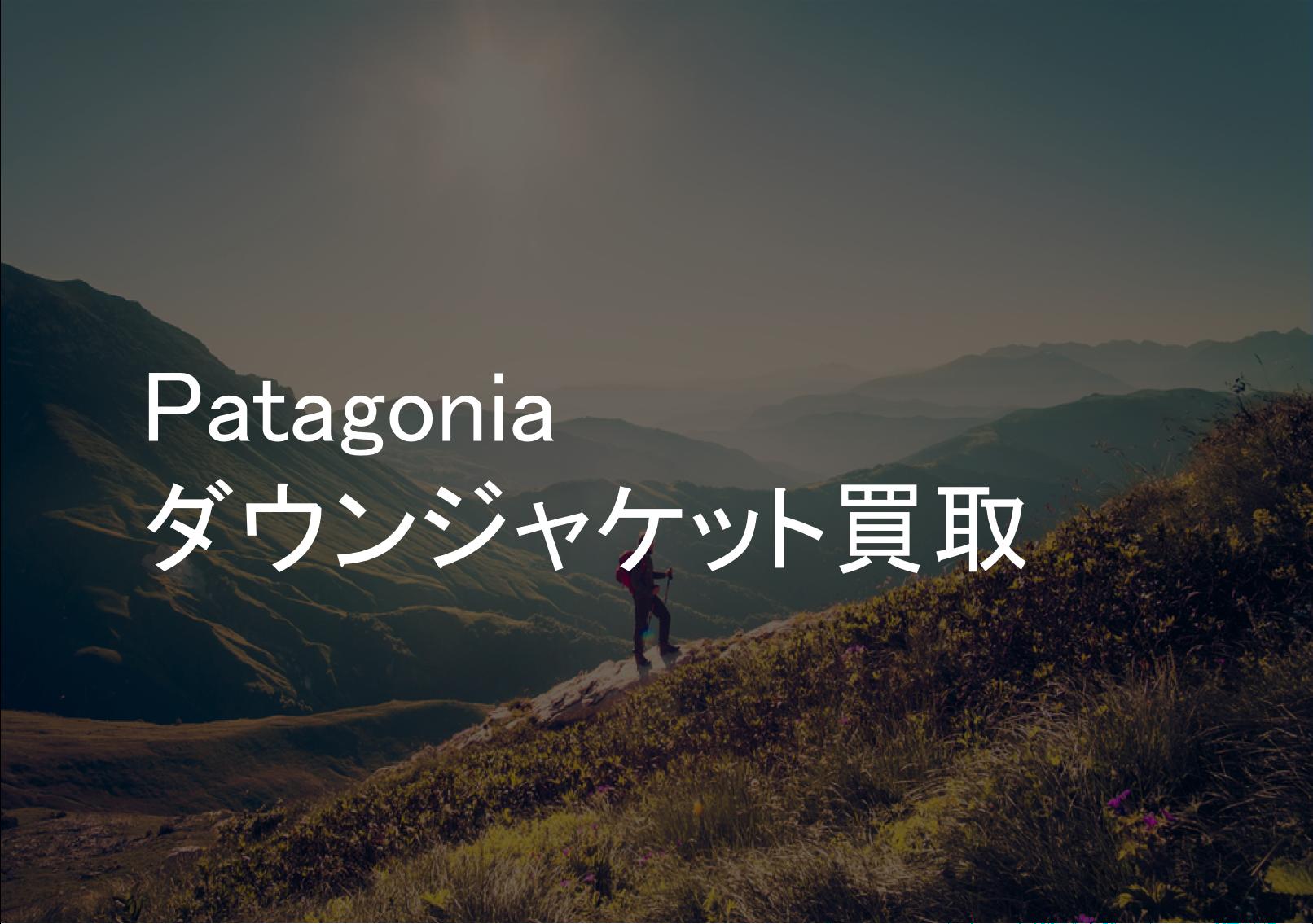 Patagonia(パタゴニア)ダウンジャケット買取なら